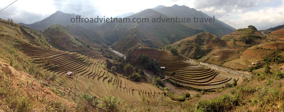 Vietnam Motorbike Motorcycle Tours - Northwest Vietnam Dirt Bike Tour: Northwest Vietnam terrace rice field