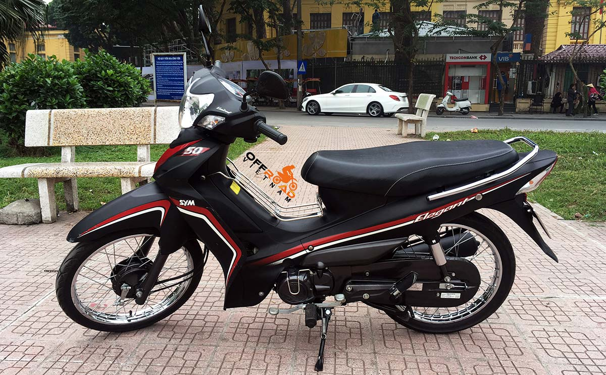 Vietnam Motorbike Motorcycle Tours - Motorbike Rental. SYM Elegant 50cc semi-automatic scooter.
