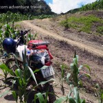 Motorbiking the farmers' dirt track in Mai Chau