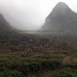 Ha Giang in a misty morning