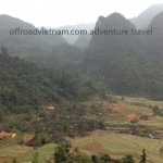 Motorbiking Vietnam with stunning mountain view