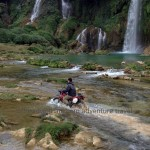 Riding to Ban Gioc waterfalls, Cao Bang province